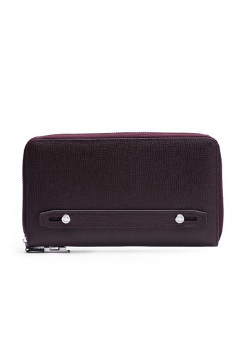 Faire Leather Co. red Specter CG Travel Wallet (Burgundy) - Travel Leather Accessories 6E9A2AC5B4D7BBGS_1