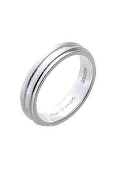 Matte Bands Silver Ring for Men lr0014m