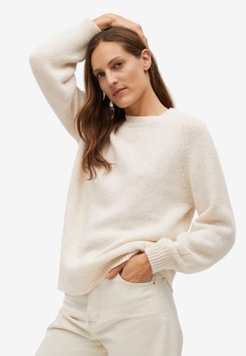 Mango beige Oversize Knit Sweater 1C5AFAAA783769GS_1