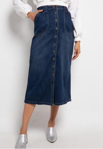 TRISET blue Hana Denim Skirt 5806BAA9BAEAFEGS_1