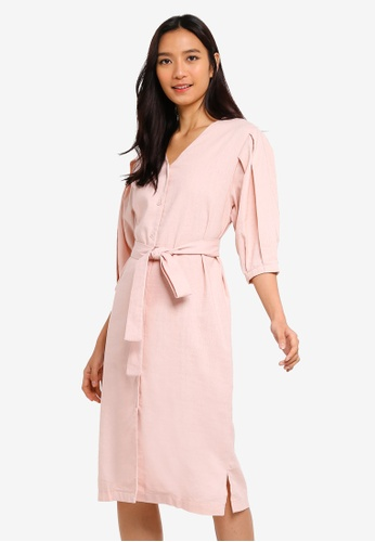 2d8fc4205fee6 Buy NAIN Linen Puff Sleeve Dress Online on ZALORA Singapore