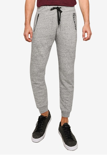 Hollister grey Print Terry Jogger Pants 9B025AAC40EBBDGS_1