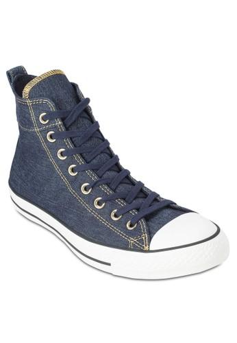 Chuck Tesprit 寢具aylor All Star 高筒丹寧布鞋, 鞋, 鞋