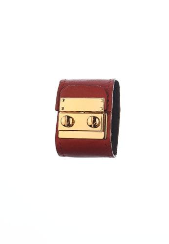 CSHEON red Secret Code Cuff Bracelet Red Genuine Leather AA339ACEA79D41GS_1