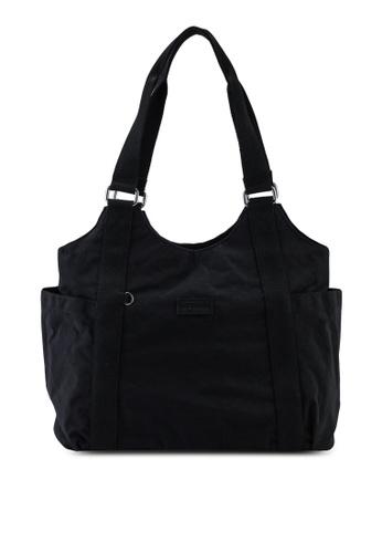 Bagstationz black Crinkled Nylon Shoulder Bag 67403ACDAFE6CAGS_1