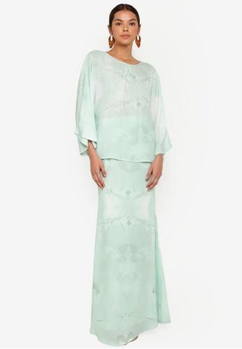 3thelabel green Brianna Kurung Kedah 17414AA1AD8E18GS_1