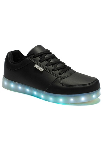 Greatnes Trading Corp black Unisex Casual Low-uppers LED colorful Shoes GR861SH59BKAPH_1