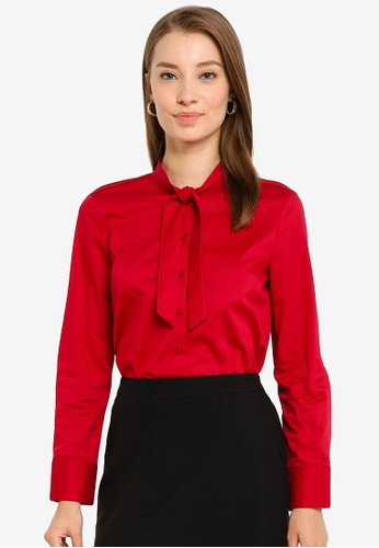 G2000 red Easy Fit Twill Shirt 1FD8AAABC05B0DGS_1
