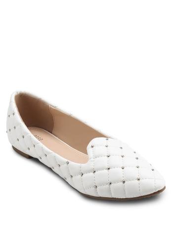 鉚釘esprit香港分店菱格紋平底鞋, 女鞋, 芭蕾平底鞋