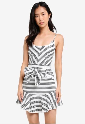 INDIKAH white Front Tie Mini Dress IN119AA0SCCCMY_1