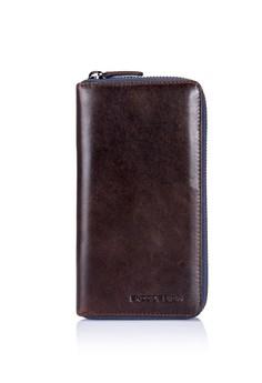 ENZODESIGN-新設計Vintage軟牛皮長包(可放手機)