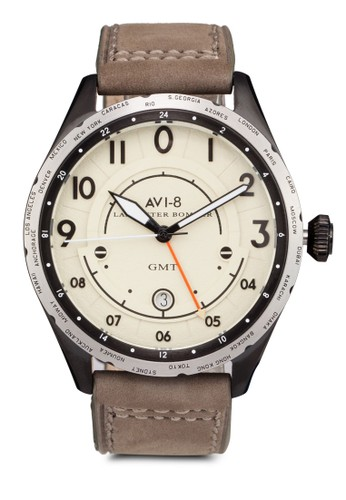 Lancasteesprit 內衣r Bomber 皮革手錶, 錶類, 休閒型