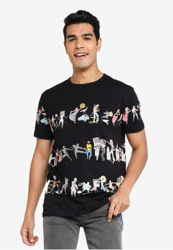 Desigual black Arty Short Sleeves T-Shirt 801D9AA037AB5DGS_1