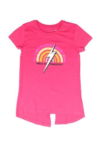 FOX Kids & Baby pink Kids Girl Short Sleeves Printed Tee BAC74KA8848B3BGS_1