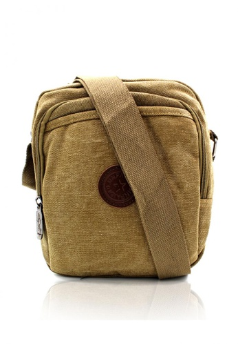 Attraxion Men's and Accessories brown Attraxion Andrei 1143-15 Canvas Crossbody Bag for Men 49A22AC047AB20GS_1