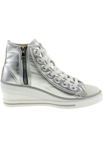 Maxstar Maxstar Women's 7H Zipper PU Low Wedge Heel Sneakers US Women Size MA168SH78CGZHK_1