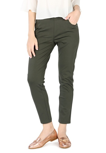 London Rag green Khaki Green Fit Cigarette Pants 9D500AA1DAEE40GS_1