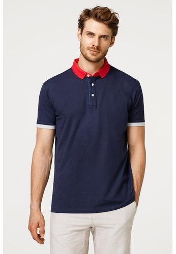 ESPRIT blue Piqué polo shirt A6A3DAA2C03617GS_1