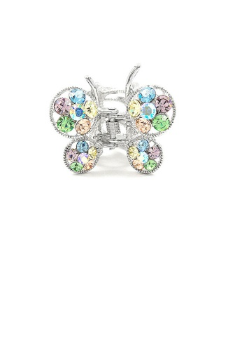 Glamorousky multi Butterfly Clamp in Mutli-color Austrian Element Crystals FC256ACC304AA0GS_1