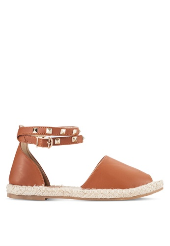 Something Borrowed brown Ankle Strap Espadrille Flats 20C44SH6803DB8GS_1