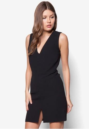 前開衩低胸洋裝, 服zalora 衣服尺寸飾, 洋裝