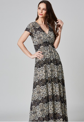 East India Company Sneha- Shimmer Jersey Knit Maxi Dress 45AFDAA046B215GS_1