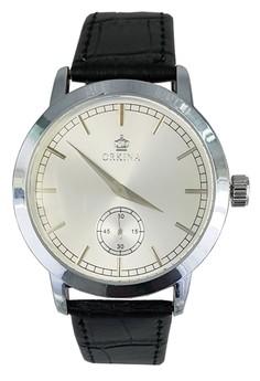 Men's Leather Strap Business Fashion Wrist Watch