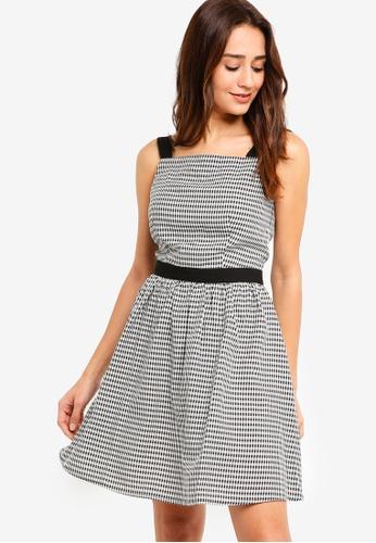 ZALORA black and white Sleeveless Dress B65B5AA07950E2GS_1