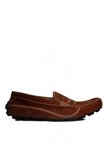 D-Island brown D-Island Shoes Slip On Moccasins Rajut Comfort Suede Brown DI594SH41RWWID_1