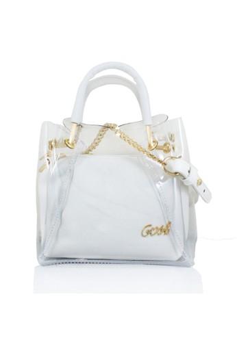 GOSH white Amaryllis-313 Chiaro Hand Bag 233DCACE0ED460GS 1 97543acbc5