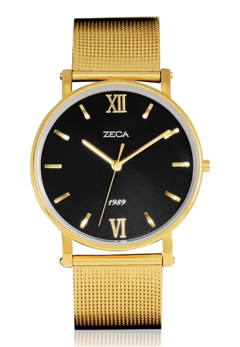 ZECA black and gold Zeca Watches Men Fashion Stainless Steel Analog - 2006M Gold ZE260AC45SMKSG_1