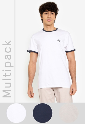 Jack & Jones white 3-Pack Walta Tee 7BD7DAAC4C0BCAGS_1