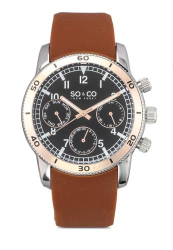 SO&CO brown Yacht Timer Watch 5018B SO540AC0SHM1MY_1