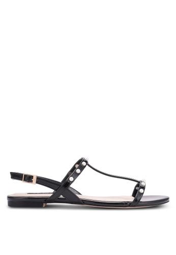 ZALORA black Pearly Strap Sandals B9213SHAA6B8C5GS_1