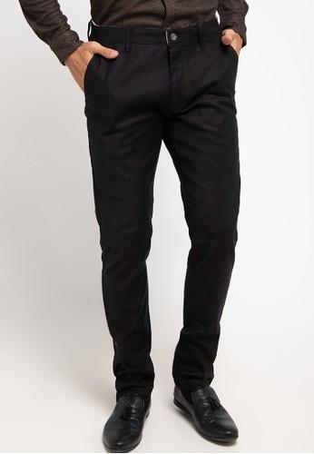 Manzone black Pastent Trouser F66F0AA7EBF664GS_1