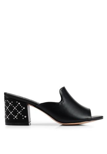 BETSY 黑色 鉚釘高跟穆勒鞋 68692SH450A653GS_1