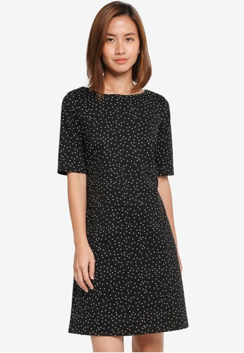 Dorothy Perkins black Billie & Blossom Spot Ponte Dress 376DCAAFE60D3EGS_1