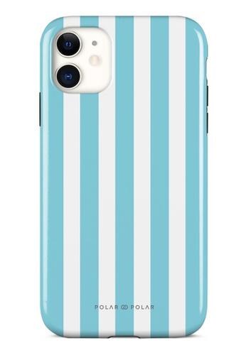 Polar Polar blue Baby Blue Stripe Dual-Layer Tough Case Glossy For iPhone 11 6E14DAC0999727GS_1