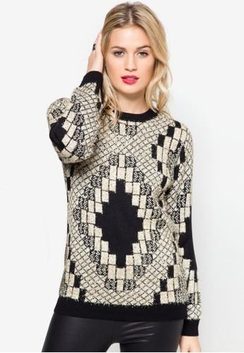 幾何圖形針織衫, 服飾esprit hk office, 服飾