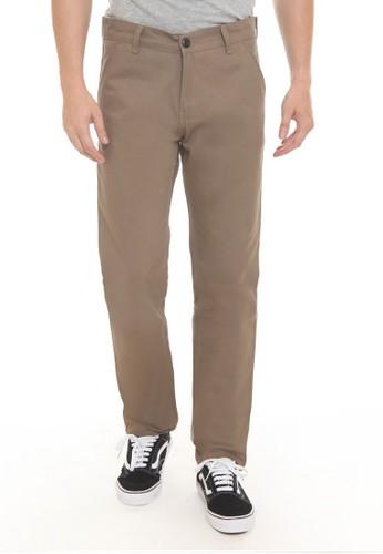 97999aba3 HEMMEH brown Celana Chino Panjang Coklat Muda Hemmeh 94942AA5F0C7D9GS_1