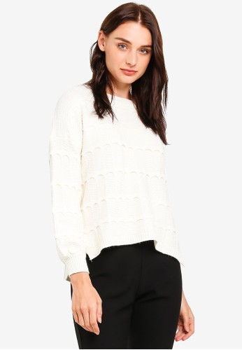 BYN white Ribbed Knit Sweater B963FAA9F48F99GS_1