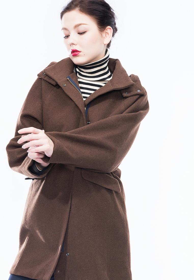 Style BF Parka Chocolate Charlotte Alpha Wool zwxdq6wEA