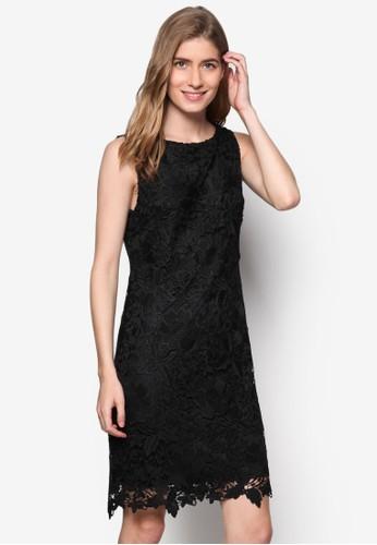 鉤京站 esprit針蕾絲無袖直筒連身裙, 服飾, 洋裝