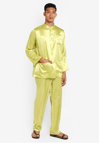 Gene Martino green Traditional Baju Melayu 8389EAAA231917GS_1