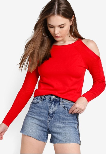 moderate cost limited guantity utterly stylish Cold-Shoulder Sweater
