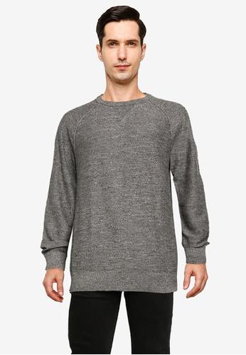 GAP 灰色 Cotton Slub Crew Sweatshirt DC620AA3CE5B05GS_1