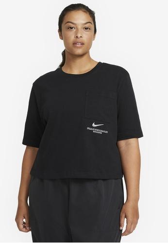 Nike black Women's Swoosh Short Sleeve Top D3C55AA0C72893GS_1