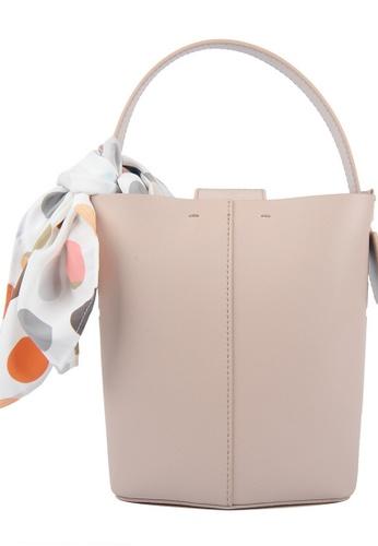 RO Bags beige RO Terranova Felucca Mini Top Handle Bucket Bag in Rose Cloud/Black 65222ACE2EC25BGS_1