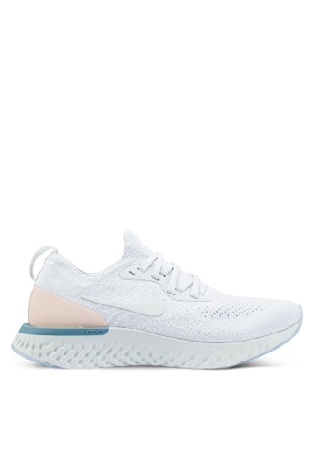 a6c566a77a13b Nike silver Women s Nike Epic React Flyknit Shoes 672ACSH7047B38GS 1