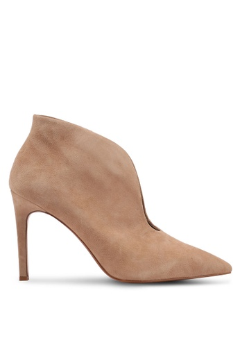 Mango beige Heel Leather Ankle Boots B5ACDSHE0D3C30GS_1